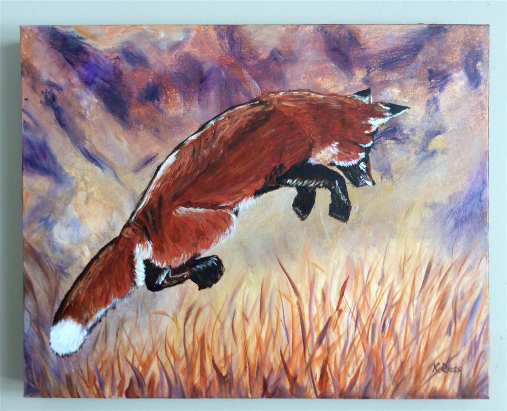 """Hunter"" original fine art by Kathryn Ross"