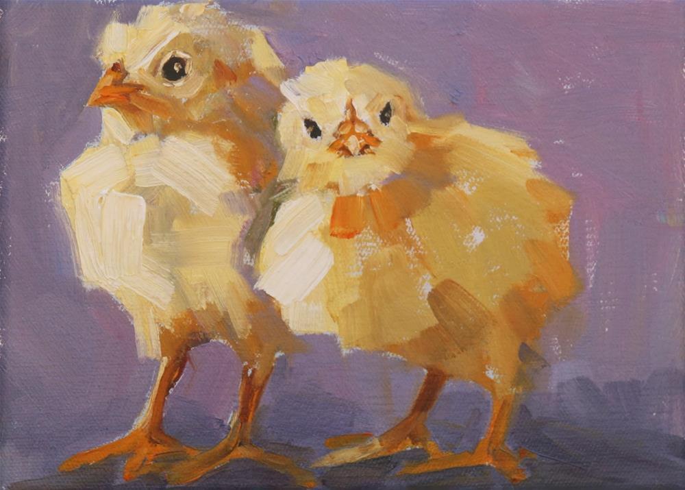 """""""two cute"""" original fine art by Carol Carmichael"""