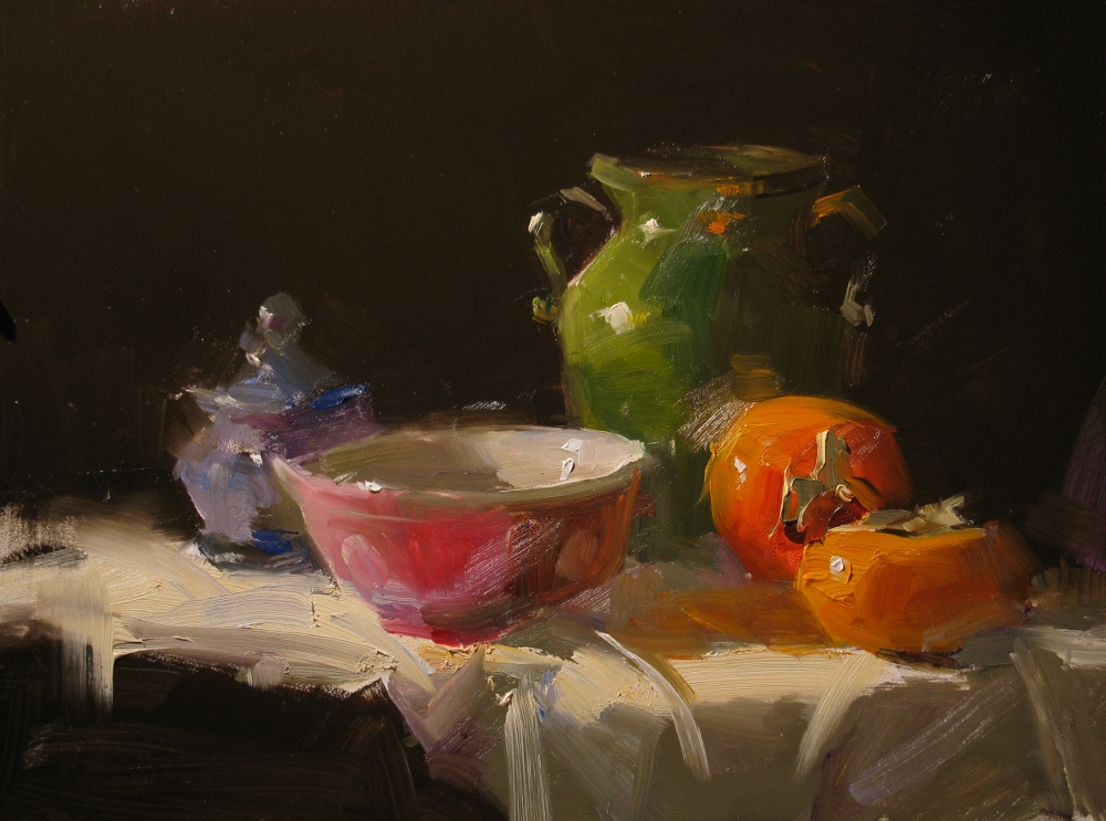 """""""Demo at Albuquerque 3 --- Sold"""" original fine art by Qiang Huang"""