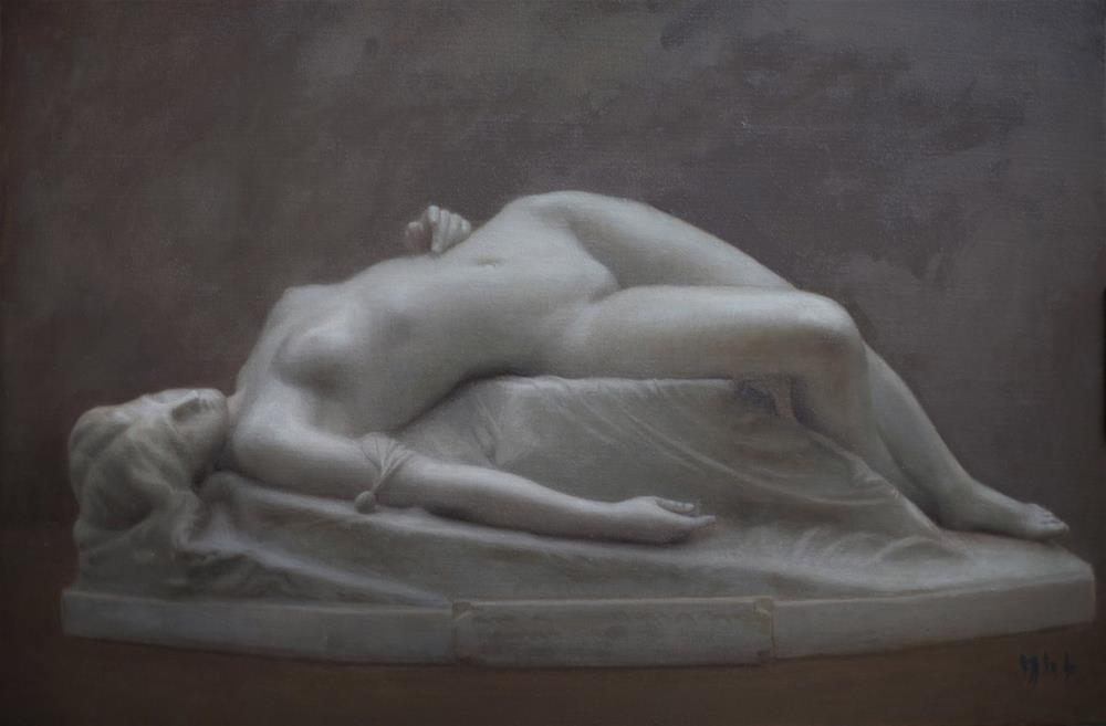 """la jeune tarentine"" original fine art by Yuehua He"