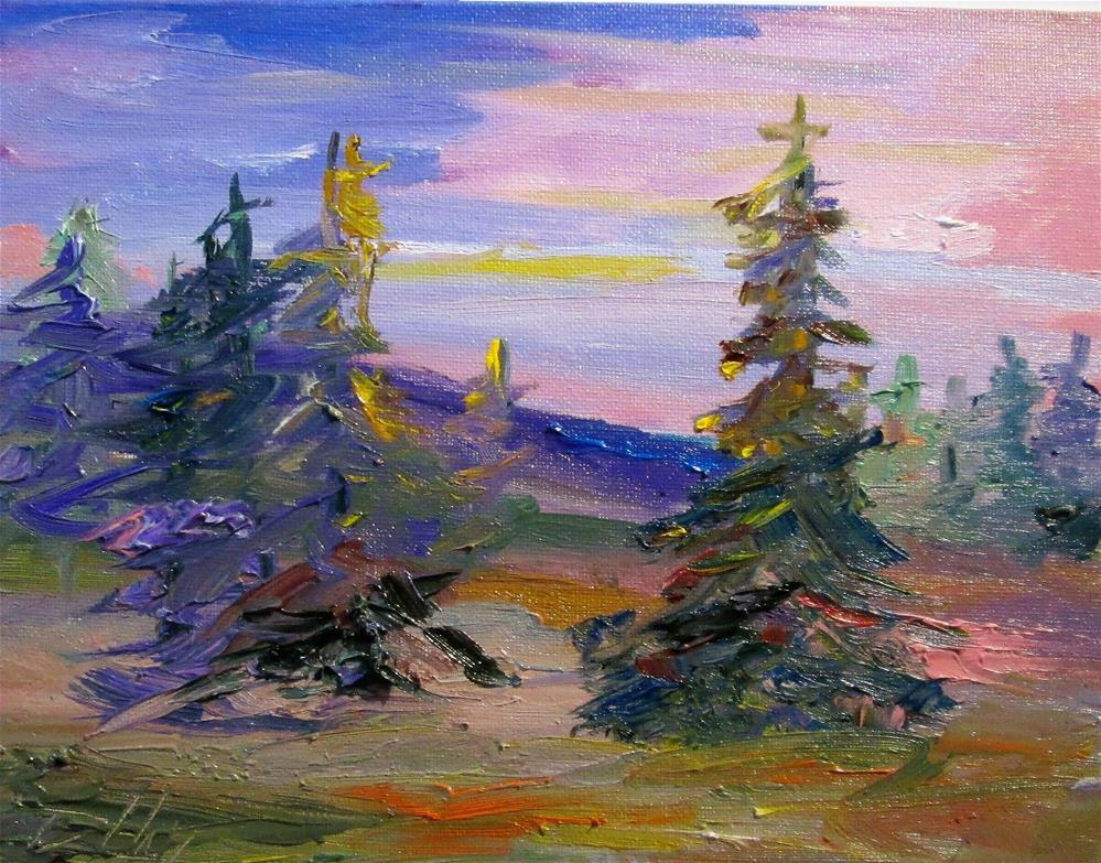 """Pink Sunset"" original fine art by Delilah Smith"