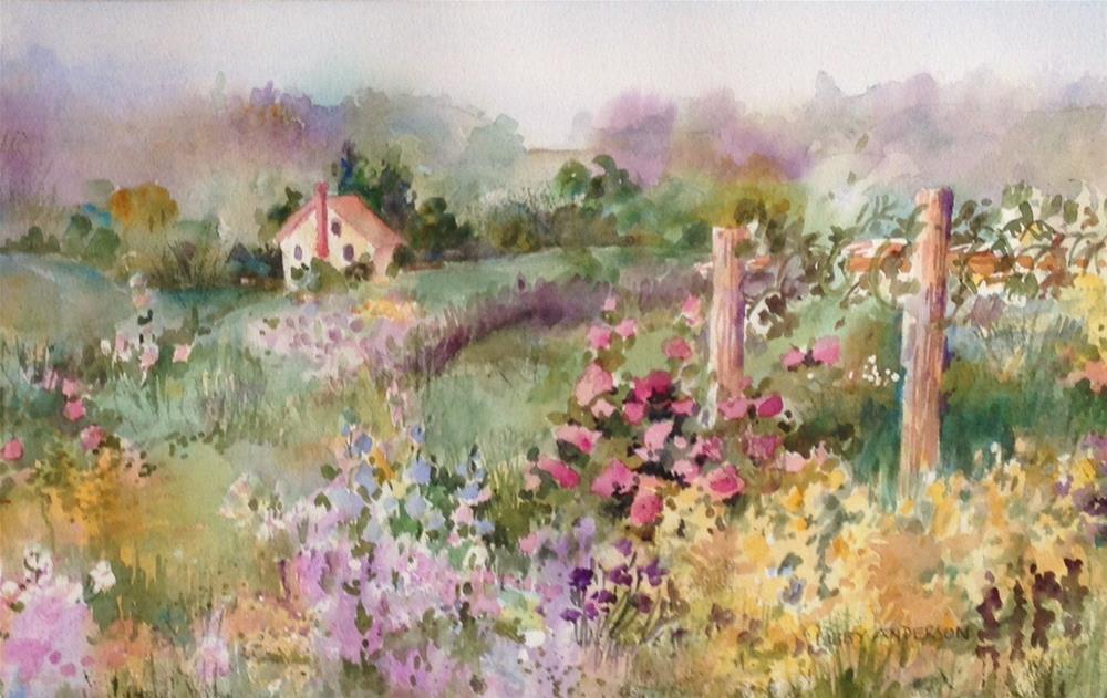 """""""Springton Manor Garden"""" original fine art by Libby Anderson"""