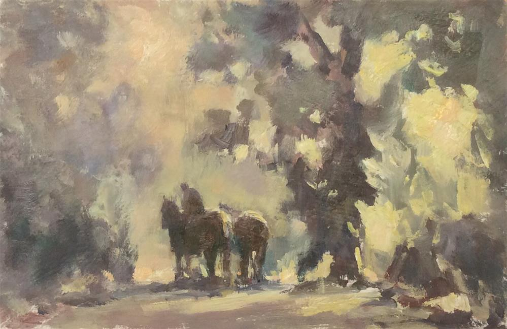 """""""On a Country Lane"""" original fine art by John Shave"""