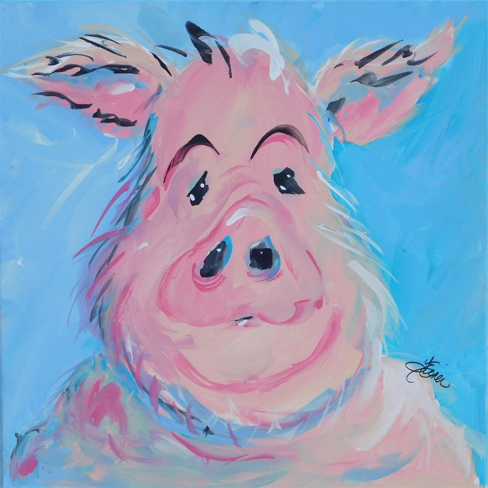 """""""Hank"""" original fine art by Terri Einer"""
