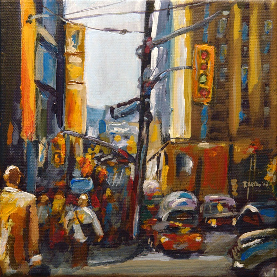 """0543 Rush Hour - Rasch Aua"" original fine art by Dietmar Stiller"