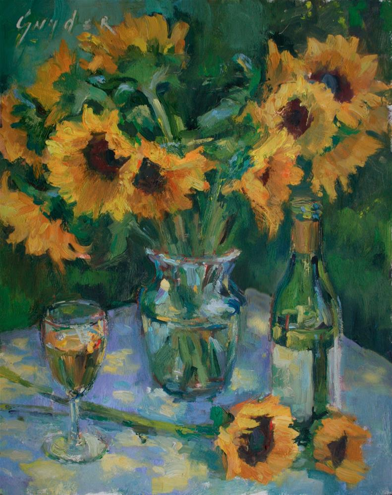 """Glass of Golden Light"" original fine art by Julie Snyder"