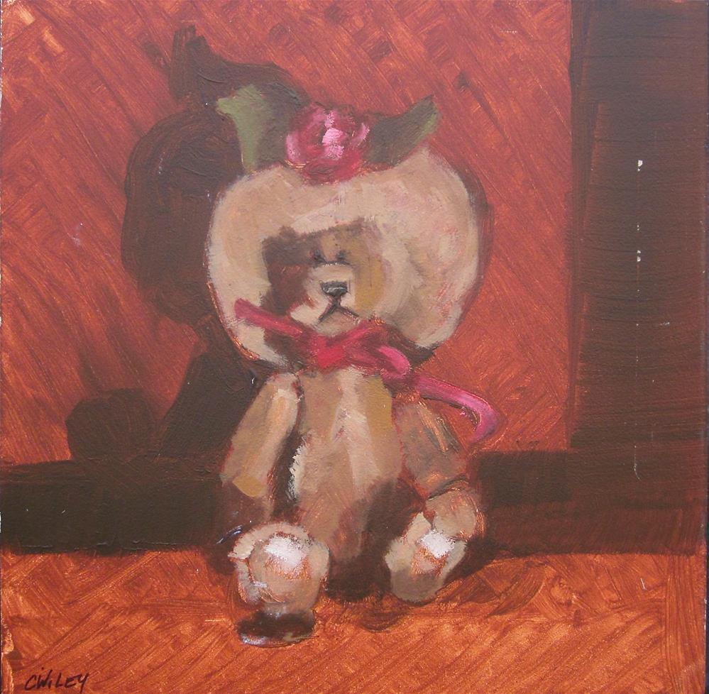 """Tiny Teddy Girl"" original fine art by Carol Wiley"