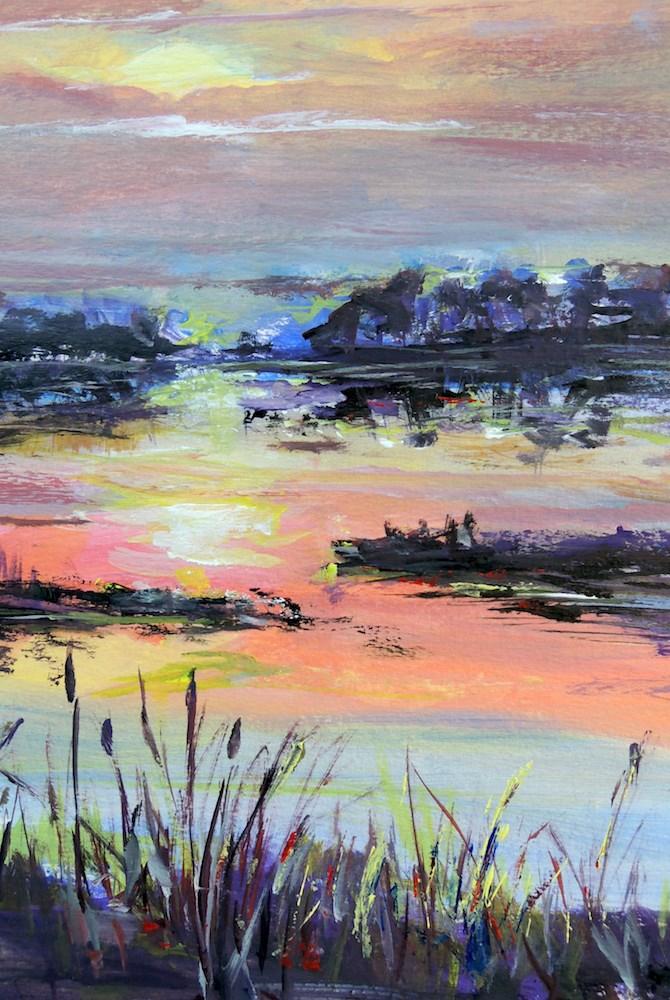 """Reeds in Light"" original fine art by Mary Schiros"