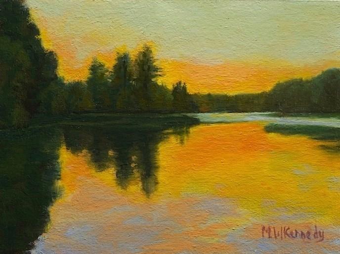 """""""Still Waters"""" original fine art by Michael Kennedy"""
