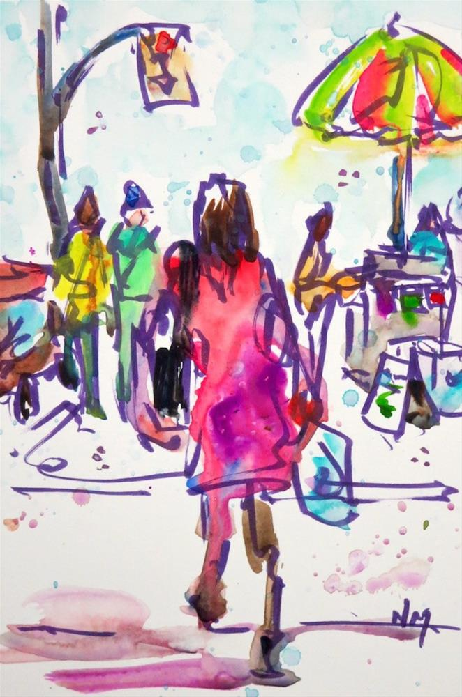 """past the hot dog stand"" original fine art by Nora MacPhail"