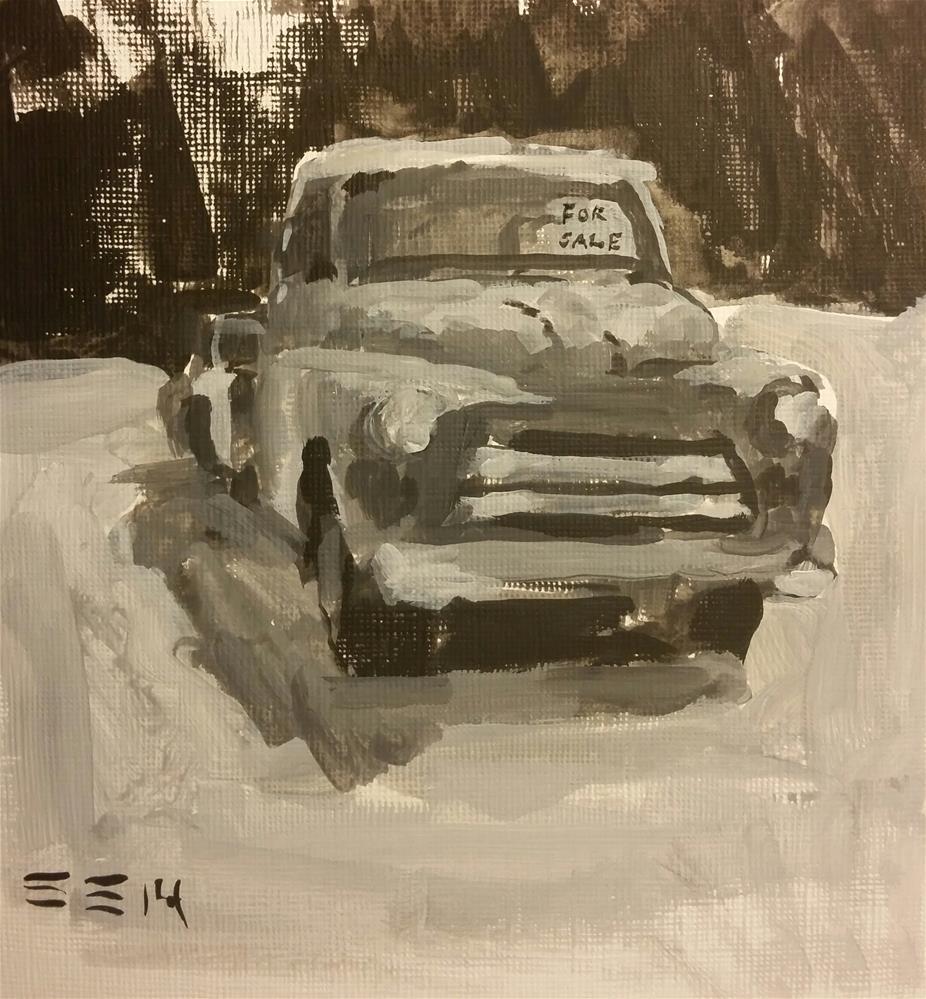 """Vintage"" original fine art by Liz Maynes"