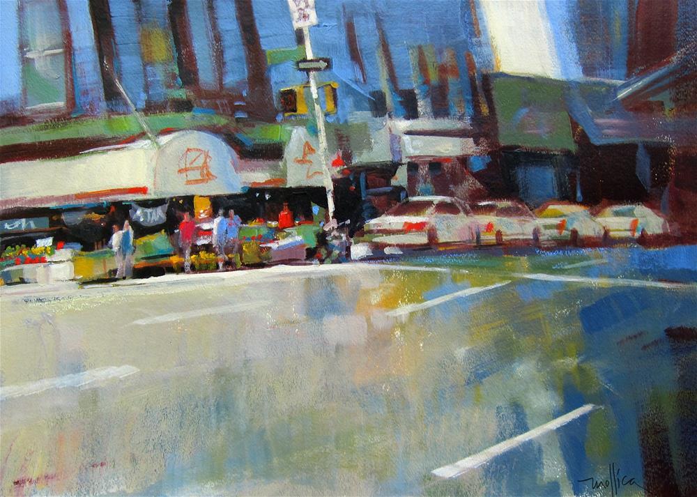"""Northbound on 10th (II)"" original fine art by Patti Mollica"