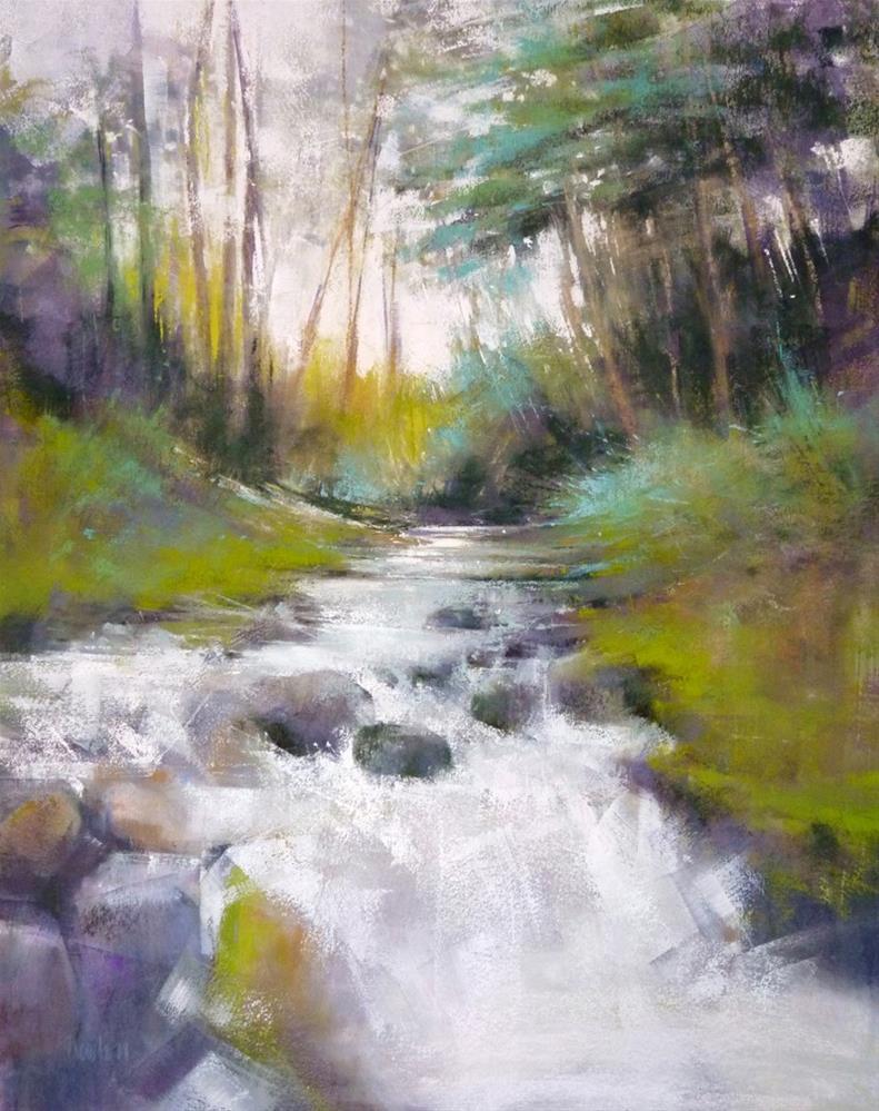 """Spring Stream ATTIC GALLERY CAMAS WA"" original fine art by Barbara Benedetti Newton"