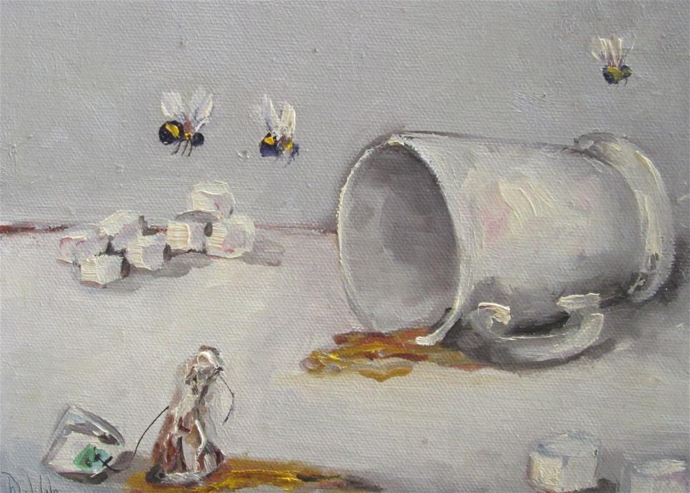 """Tea Party"" original fine art by Delilah Smith"