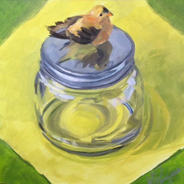 """""""Expecting to Fly"""" original fine art by Mary Pargas"""