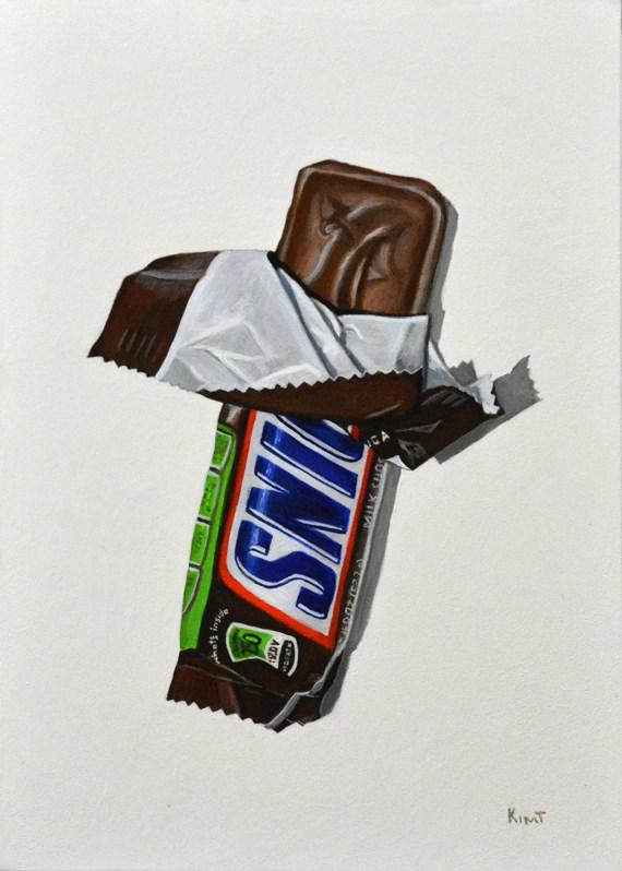 """Snickers"" original fine art by Kim Testone"