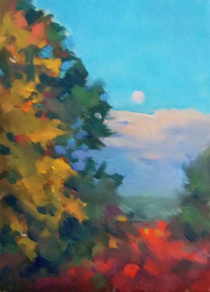 """""""FALL MOON"""" original fine art by Doug Carter"""