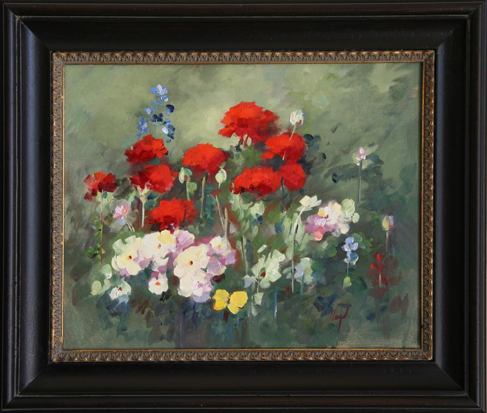 """Flowers in the Garden"" original fine art by Diane Lloyd"