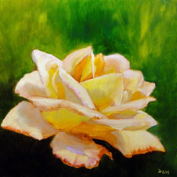 """Springs First Rose"" original fine art by Dalan Wells"