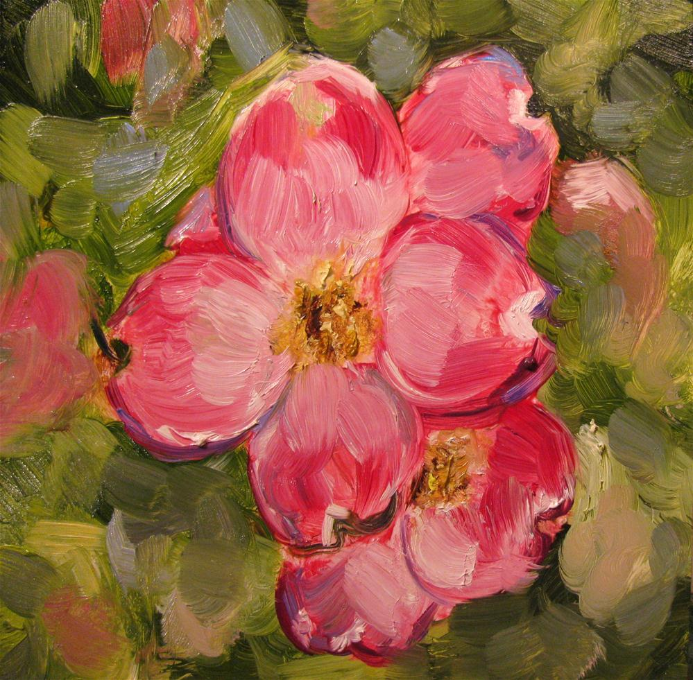 """Red Dogwood"" original fine art by Susan Elizabeth Jones"