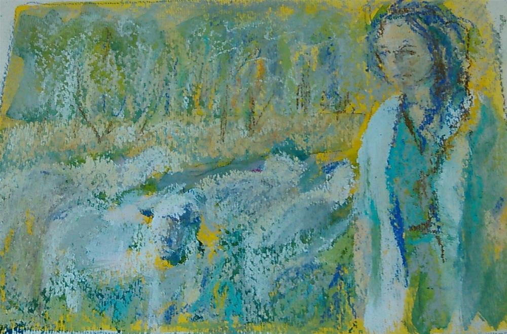 """In the Pasture"" original fine art by Ann Rudd"