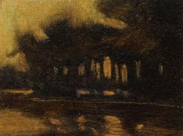 """Island at Dusk"" original fine art by Susan Hammer"