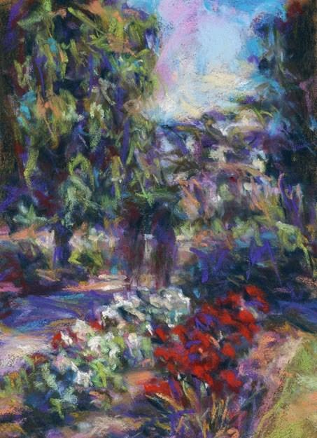 """STROLL - 8 x 6 landscape pastel by Susan Roden"" original fine art by Susan Roden"