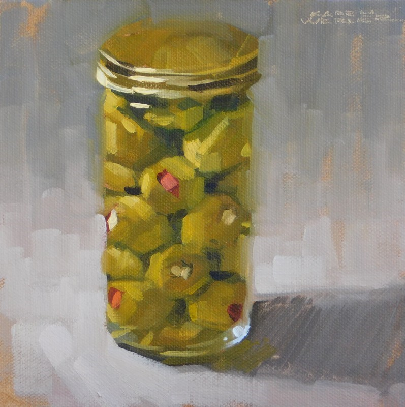 """""""Olives"""" original fine art by Karen Werner"""