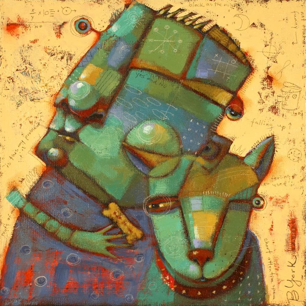 """Good Dog"" original fine art by Brenda York"