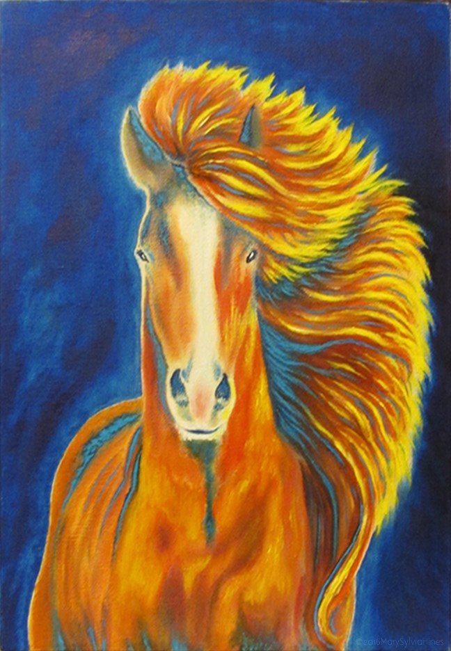 """Wild & Free"" original fine art by Mary Sylvia Hines"