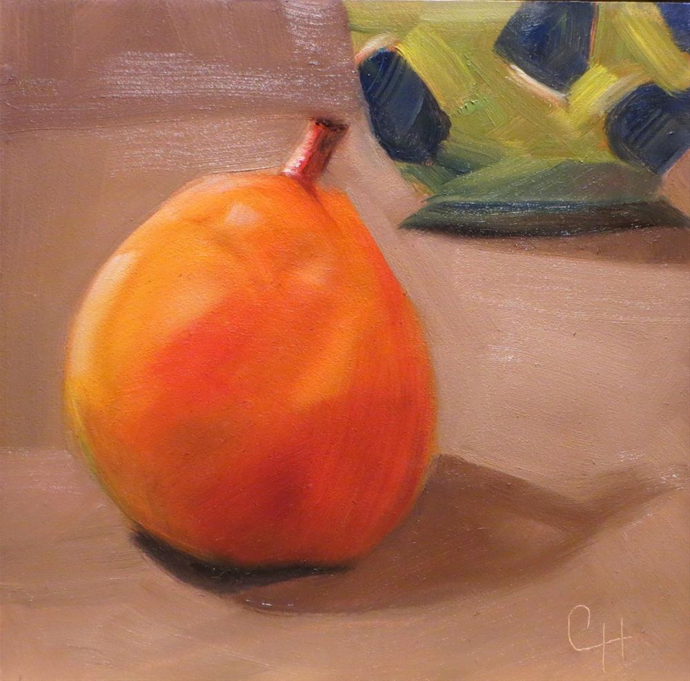 """Ripe Pear"" original fine art by Claire Henning"