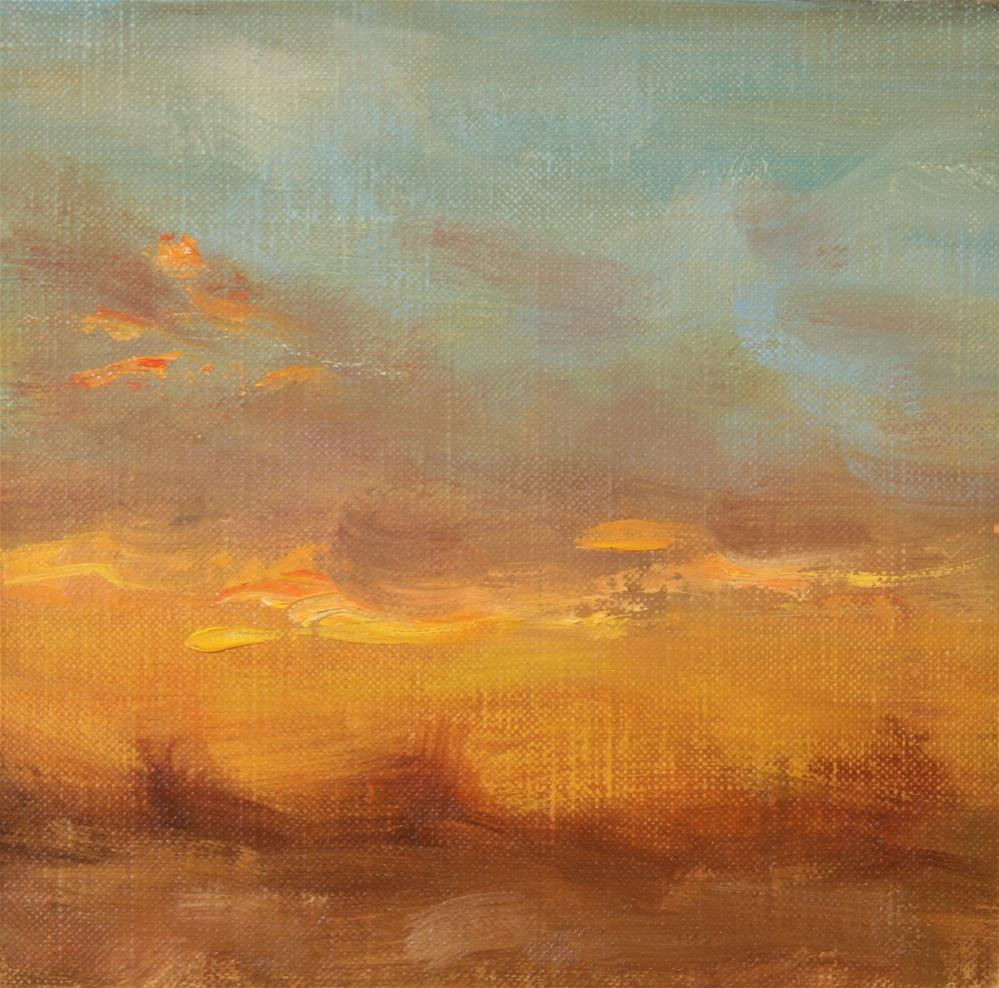 """Winter Sunset 03"" original fine art by Scott Serafica"
