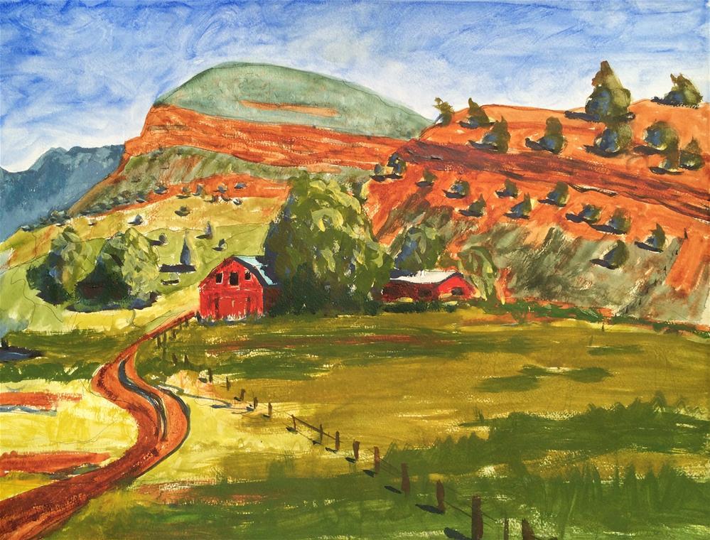 """The Red Butte"" original fine art by Darryl Freeman"