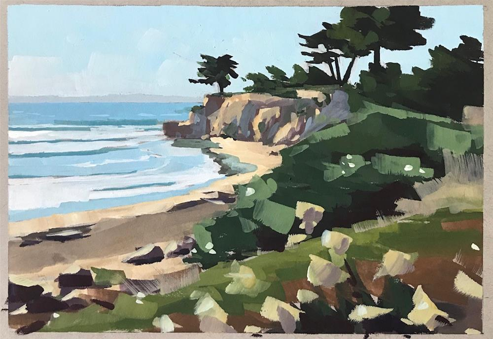 """Santa Barbara December"" original fine art by Sharon Schock"
