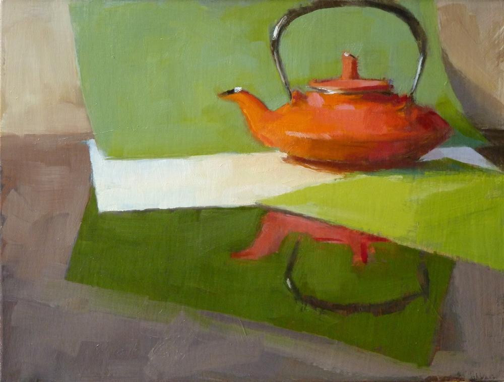 """""""Iron Tea Kettle"""" original fine art by Ron Ferkol"""
