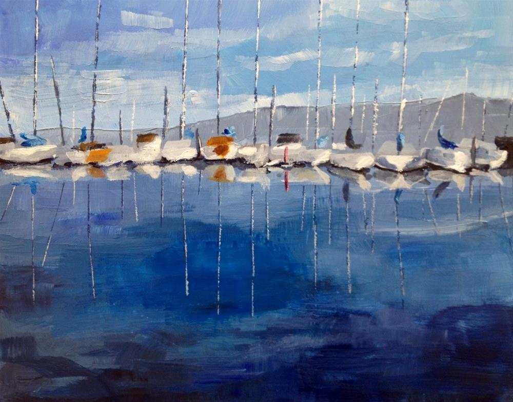 """Water:  Marina"" original fine art by Gary Bruton"