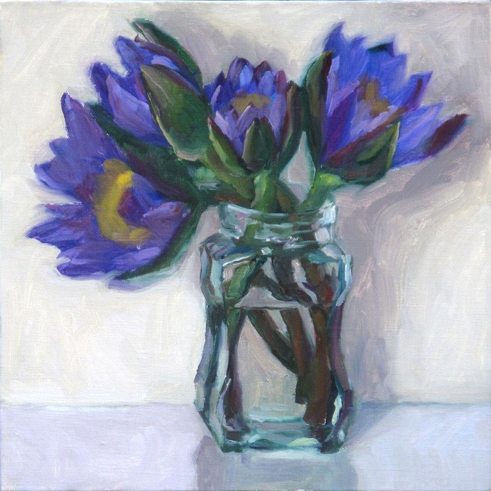 """Waterlilies"" original fine art by Myriam Kin-Yee"