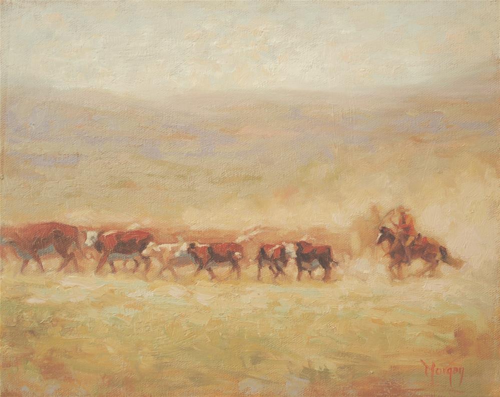 """Wrangler Memories #15"" original fine art by Cecile W. Morgan"