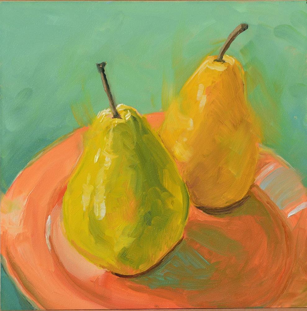 """""""Pair of Pears"""" original fine art by Jan Jackson"""
