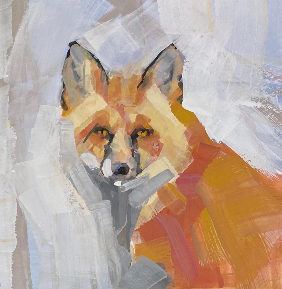 """Foxy"" original fine art by Patti Vincent"