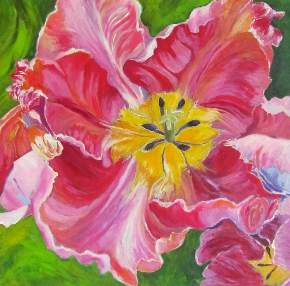 """Tulip Close-Up"" original fine art by Patricia MacDonald"