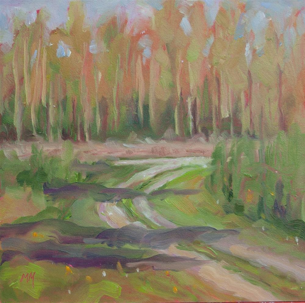 """At Frye Cottage"" original fine art by Maria McNitt"