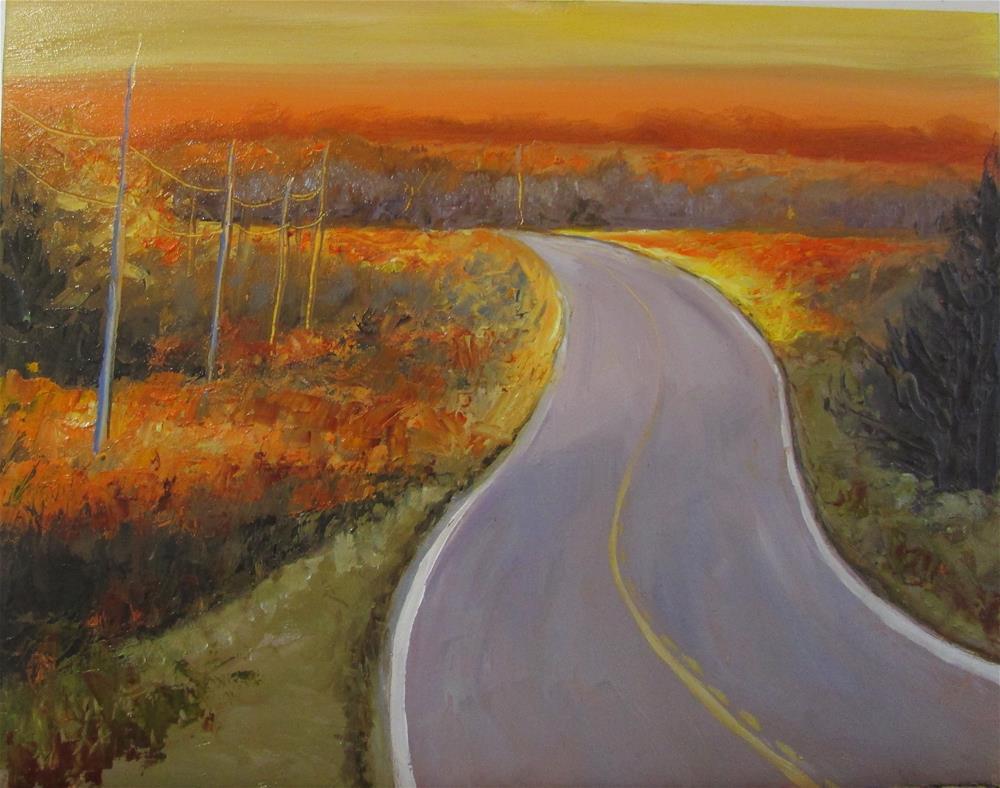 """U8 x 10 inch oil  Highway to Heaven"" original fine art by Linda Yurgensen"