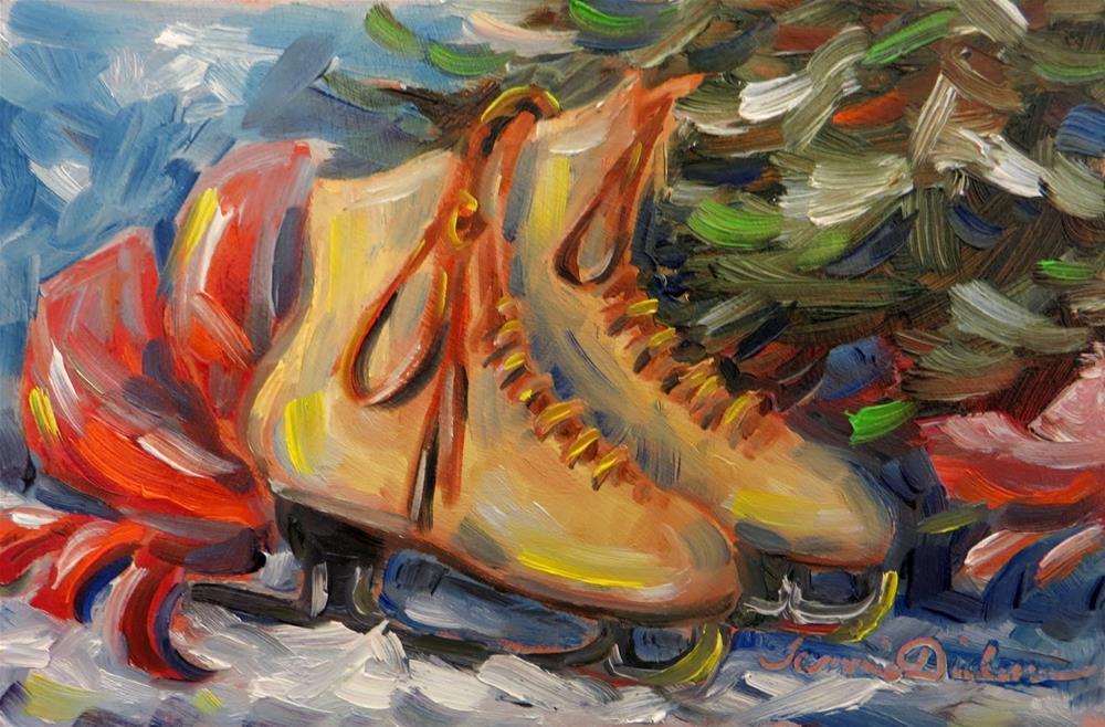 """""""Holiday Skates"""" original fine art by Tammie Dickerson"""
