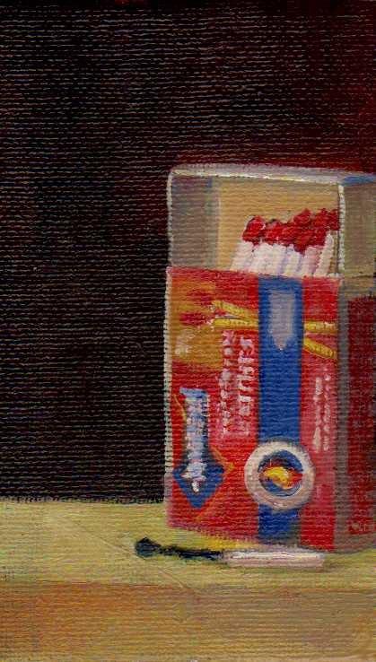 """matches 2"" original fine art by Mark DeBak"