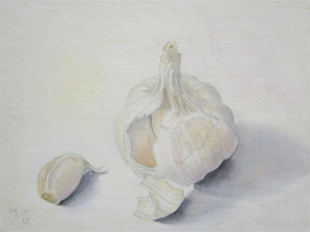 """""""Garlic VI"""" original fine art by Pera Schillings"""