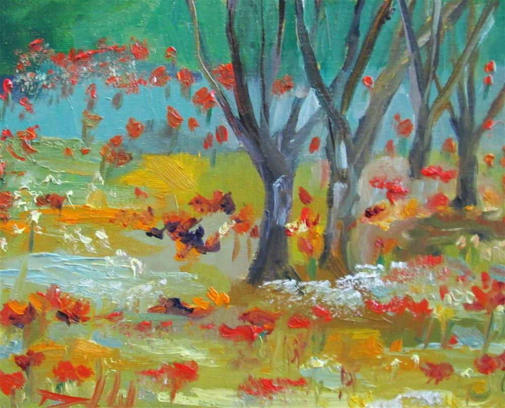"""""""Olive Trees"""" original fine art by Delilah Smith"""