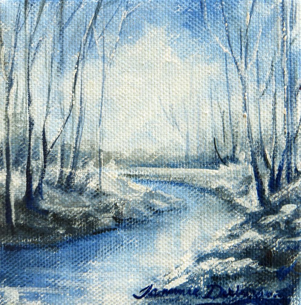 """Winter Blues"" original fine art by Tammie Dickerson"