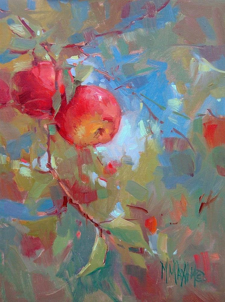 """An Apple A Day"" original fine art by Mary Maxam"