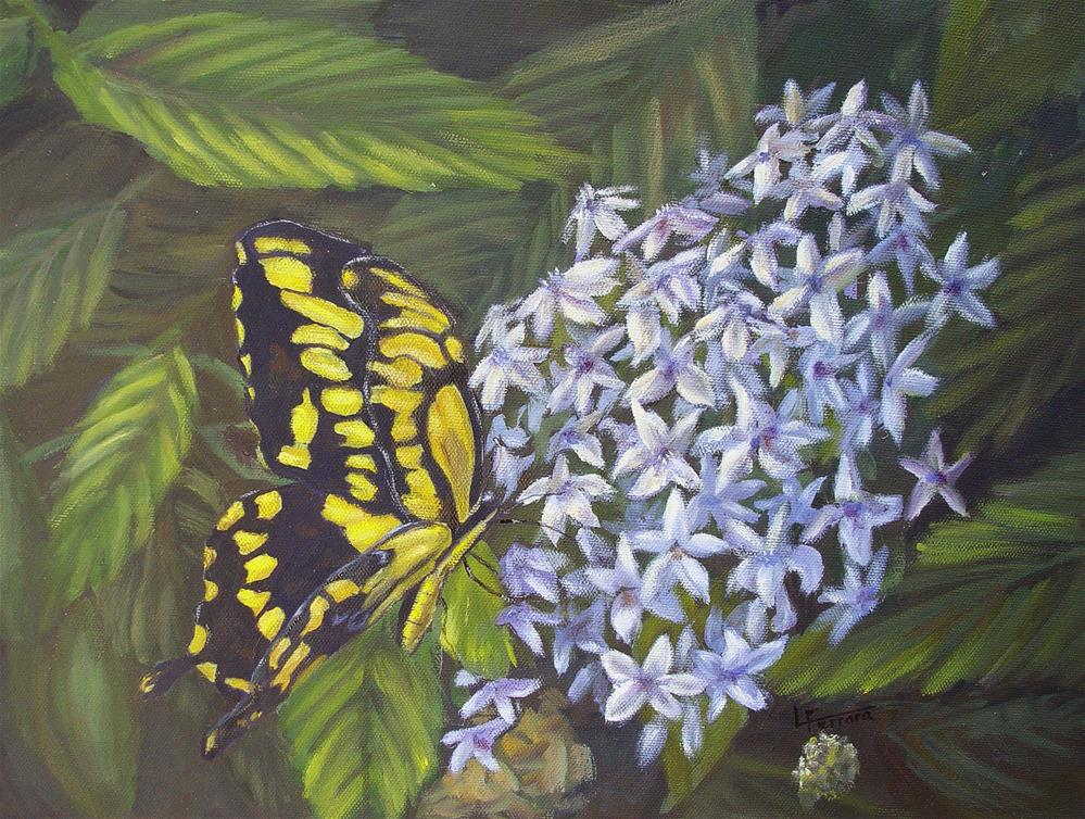 """Swallowtail"" original fine art by Lina Ferrara"